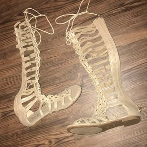 Bamboo gladiator sandals NWT